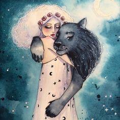 """June Leeloo, """"Le chat noir ou la constellation du Lion"""""""