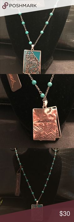 """LAUREL BURCH - Elijah's Garden - Turquoise Design Designer Necklace - Adjustable Length 20"""". - 22"""" NWT - Designer started out in San Francisco at age 19 as an artist and designer. Known for her generosity and compassion and love of life! Laurel Burch Jewelry Necklaces"""