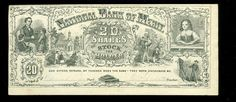 National Bank of Merit - 20 Shares of Stock to the Holder c1860 Reward of Merit
