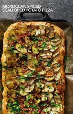 Moroccan Spiced Scalloped Potato Pizza