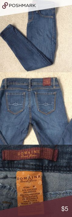 🔴 Domaine Jeggings Gently worn Jeggings. Comfortable, stretchy material but feels like real denim. Pre loved but in great condition! Domaine Brand Jeans Pants Skinny