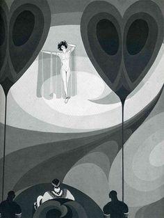 Illustration for Oscar Wilde's 'Salome', 1927 by John Vassos. Art Deco. illustration