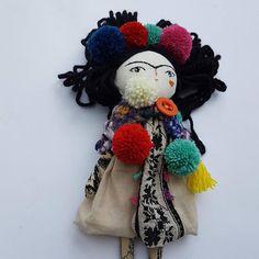 12 Frida Kahlo Doll Art Doll Handmade Doll OOAK Doll #thedollsunique #fridakahlo #dolls