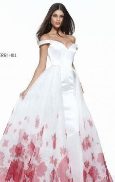 1605d16bc4d5 Off-The-Shoulder Long Gown by Sherri Hill 51228 Unique Prom Dresses