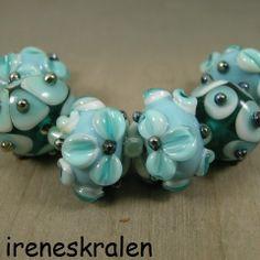 Lampwork Kralen; handgemaakte glaskralen (IKOC155) van irenesKralen op DaWanda.com
