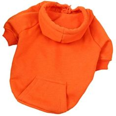 Celendi Pet Dog Warm Hoodies Puppy Soft Cotton Sweater Winter Coat Apparel (M, Orange) >>> You can find out more details at the link of the image. (This is an affiliate link) #DogApparelAccessories