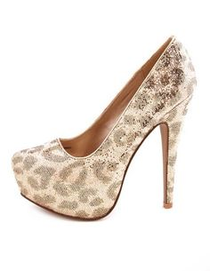 Charlotte Russe sequined heels  #Fashion  #Leopard #Sequin