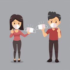 Anti Coronavirus Vector: Wearing Face Mask Free Do Hand Crafts For Kids, Art For Kids, Hand Washing Poster, Shield Logo, Creative Logo, Motion Design, Mask Design, Couple, Kids Playing