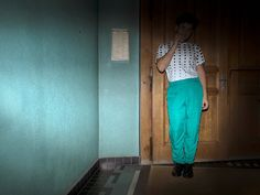 S02E09 <> www.hazbi.org <> polka dot + topman + women pants for men + turquoise + swiss fashion + opulent thinking + opulence Bold Fashion, Mens Fashion, Women Pants, Parachute Pants, Polka Dots, Turquoise, Moda Masculina, Trousers Women, Fashion For Men