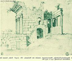 1535 Marten van Heemskerck (Il retro del tempio di Minerva; il disegno è specchiato: il tempio è ripreso da dietro e dunque l'arco è a sinistra | Flickr - Photo Sharing!