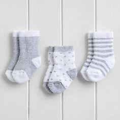 Spot Stripe Socks 3 Pack   The White Company