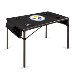 The Pittsburgh Steelers Travel Table folds up to an included carry case for easy transportation making the Steelers Travel Table great for tailgating, camping and the beach.