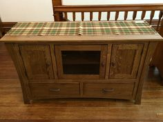 Television stand with bowed sides