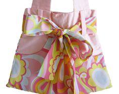 Peach Bow Pocket Bag
