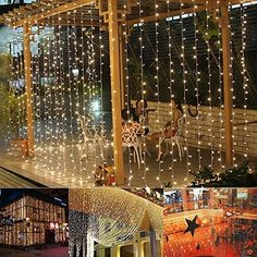 Outop(TM) 300led Window Curtain Icicle Lights String Fair...