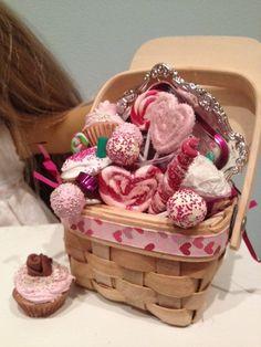 American Girl Valentine's Basket