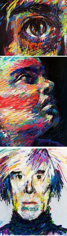 Sensacional o trabalho do artista espanhol Txemy com sua arte colorida e distorcida espalhada pelas ruas.