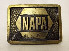 Vintage Distressed NAPA belt buckle National by honeyblossomstudio