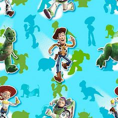 Creative Cuts Cotton Fabric, Disney Buzz and Gang Print, Turquoise  Saw over at Walmart Online