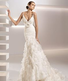 Wedding Dresses from All for Fashion website Cheap Wedding Dresses Uk, Bridal Wedding Dresses, Pronovias Wedding Dress, Wedding Dresses With Straps, Spaghetti Strap Wedding Dress, Spaghetti Straps, Bridal Style, Wedding Attire, Wedding Dress Sizes