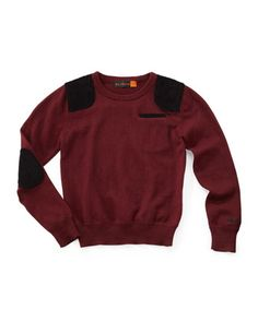 Elbow-Patch Sweater, Red/Black by Ben Sherman at Last Call by Neiman Marcus.