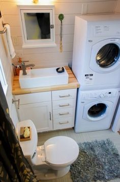 make it a single w/d combo and put storage over it.Payette 28' Tiny House For Sale by TruForm Tiny