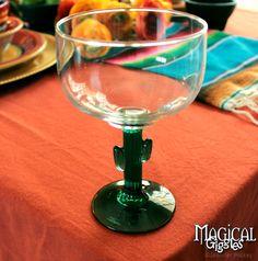 Cinco de Mayo Celebration Cactus margarita glass #tablescape #party #cinco #mexican #fiesta Magical Giggles