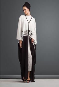 Black & White Abaya