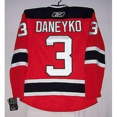 DANEYKO Rbk EDGE 1.0 7187 New Jersey Devils HOME Red Jersey
