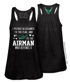 Pledge Allegiance Shirt - Air Force #AirForce #Airforcebrat #airforcegirlfriend…