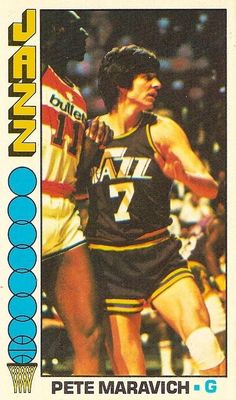 New Orleans Jazz Photo - National Basketball Association (NBA) - Chris Creamer's Sports Logos Page Basketball Legends, Football And Basketball, Basketball Cards, Basketball Jersey, Basketball Players, Pistol Pete, Utah Jazz, Sports Pictures, Nba Players