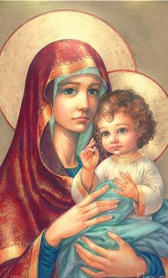 MADONNA AND CHILD (Maryna, just had a really long dream about her, we were together)