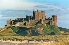 Bamburgh Castle in Northumberland, England