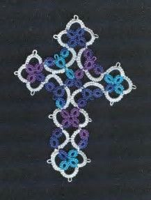 Resultado de imagen de tatting crosses