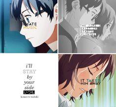 Shigatsu wa kimi no uso, Your Lie in April, Tsubaki, Kousei