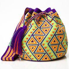HANDMADE MOCHILAS | WAYUU BOHEMIAN BAGS Woven by the Indigenous Wayuu of La Guajira, Colombia. www.wayuutribe.com