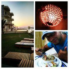 Csodás este naplementével kellemes idő finom seafood vacsora különleges díszletek. :)