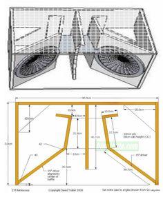 jbl bocinas Box Speaker 215 Miniscoop by David Trotter 2009 Custom Speaker Boxes, Speaker Box Design, Open Baffle Speakers, Diy Speakers, Car Audio Installation, Subwoofer Box Design, Speaker Plans, Sound Speaker, Audio Design