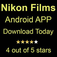 Nikon Films Android APP Android Apps, Nikon, Films, Movies, Cinema, Movie, Film, Movie Quotes, Cinematography