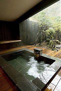 Outdoor Hot Spring Bath at Matsuzakaya Honten in Hakone