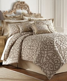 Look at this Taupe Danika Eight-Piece Comforter Set on #zulily today!