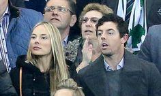 McIlroy and girlfriend Stoll watch Northern Ireland beat Greece