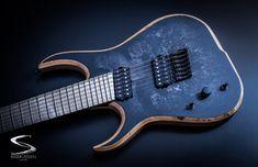 Raptor 7 - Skervesen Custom Guitars - Versatile with classic design Black Electric Guitar, Instruments, Beautiful Guitars, Custom Guitars, Ibanez, Classic, Bass, Rock, Health