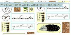 printables for a gratitude journal.