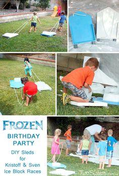 Frozen Fun Activity Sven Kristoffs Ice Block Races with DIY