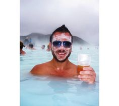 Drink a beer in the famed Blue Lagoon