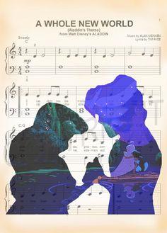 Aladdin and Jasmine Art Print by AmourPrints on Etsy