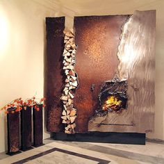 GAHR metal art studio - fireplace this is so beautiful. I have no idea how to incorporate but wow.