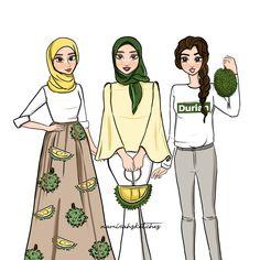 new ideas fashion sketches illustration life Indie Fashion, Trendy Fashion, Fashion Art, Fashion Design, Hot Pink Fashion, Spring Fashion Outfits, Hijab Cartoon, Islamic Girl, Fashion Magazine Cover