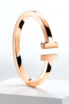 Tiffany T square bracelet in 18k gold. #TiffanyPinterest #TiffanyT